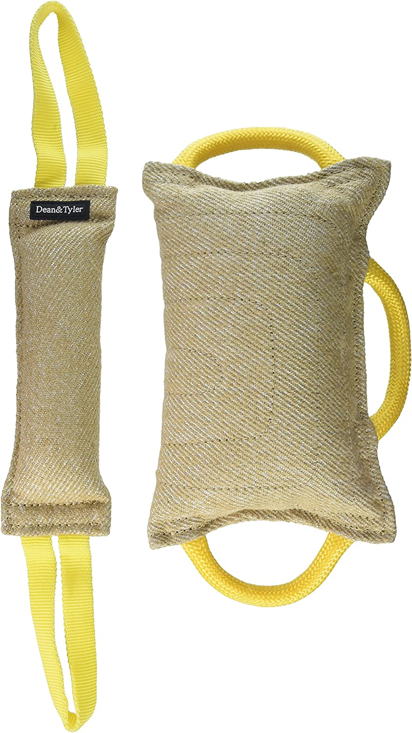 Dean and Tyler Tug Bundle of 1 Bite Pillow and 1 Medium Tug, Jute, Tug Size  12Inch by 4Inch