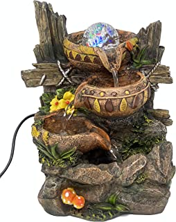 ImagiWonder Indoor Tabletop Fountain Cascading Water Buckets on Rocks