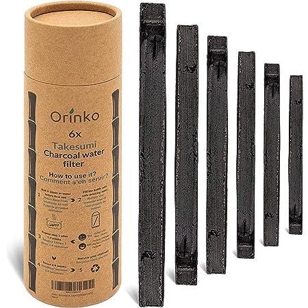 orinko - Binchotan Bio 6X   Charbon Actif Takesumi de Bambou pour Purification d'eau   Passez-Vous des Eaux en Bouteille avec Notre Charbon Actif [𝗦𝗮𝘁𝗶𝘀𝗳𝗮𝗶𝘁𝗼𝘂𝗥𝗲𝗺𝗯𝗼𝘂𝗿𝘀𝗲]
