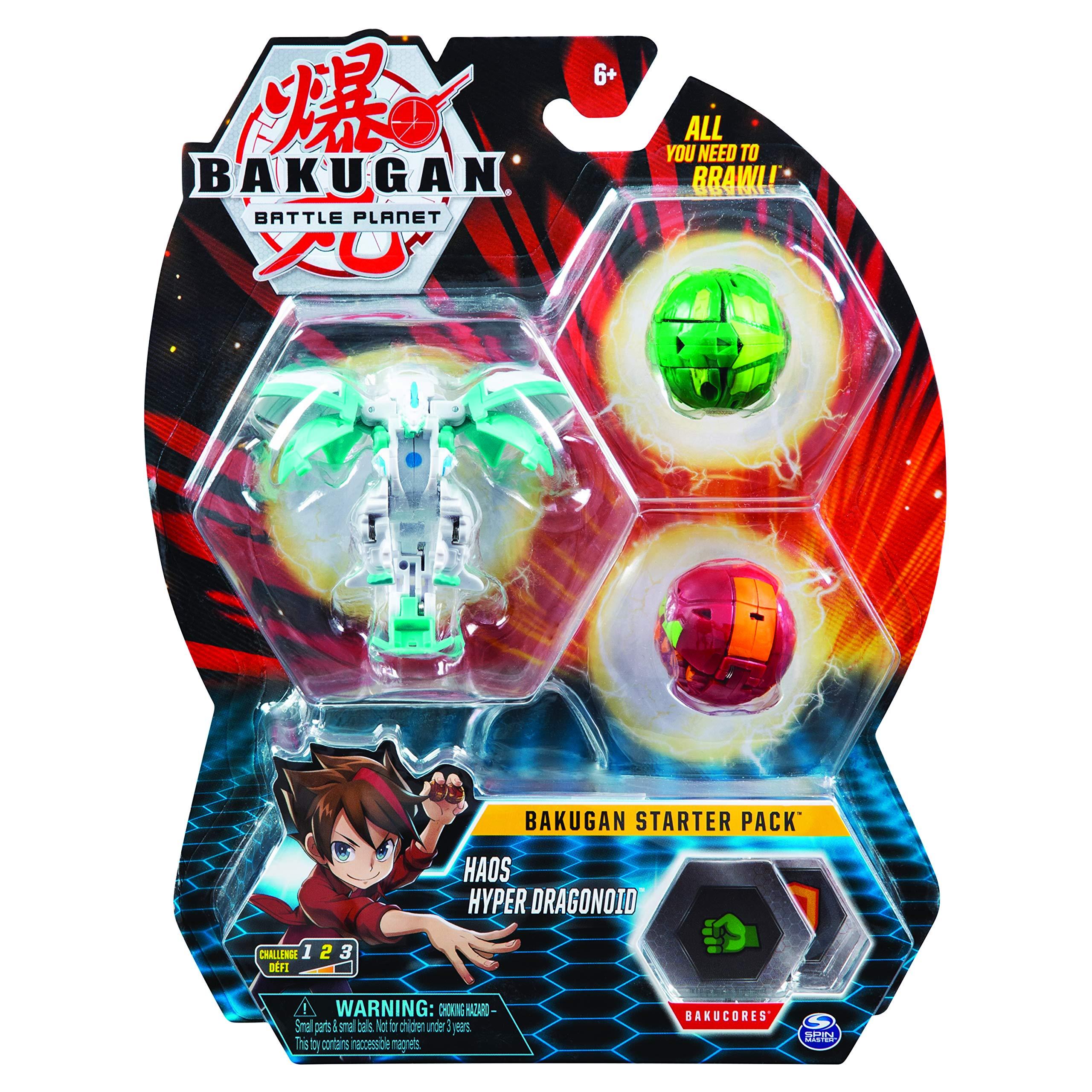 Bakugan- Starter Pack, 2 Clásicos y 1 Ultra Dragonoide EVO Blanco ...