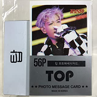 T.O.P TOP トップ - BIGBANG ビッグバン グッズ / フォト メッセージカード 56枚 (ミニ ポストカード 56枚) + ネームプレート (名札) セット - Photo Message Card 56pcs (Mini Post Card 56pcs) + Name Plate [TradePlace K-POP 韓国製]