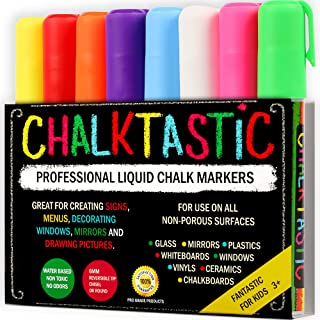 Chalk Markers by Fantastic ChalkTastic Best for Kids Art, Chalkboard Labels, Menu Board..