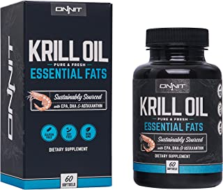 ONNIT Antarctic Krill Oil - 1000mg Per Serving - No Fishy Smell or Taste - Packed with Omega-3s, EPA, DHA, Astaxanthin & P...
