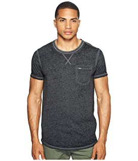 Tee in Ausbrenner Quality with Uneven Bottom Hem