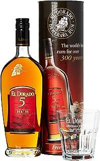 El Dorado 5 Years Old mit Geschenkverpackung mit Glas Rum 1 x 0.7 l