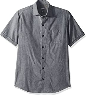 Men's Air Short Sleeve Button Down Solid Shirt