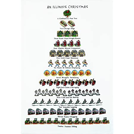 Mistletoe Co A Maryland Christmas Kitchen Towel 18 X 26 Home Kitchen