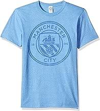 Fifth Sun Official Manchester City Fc Plain Logo Distressed Men's Tee