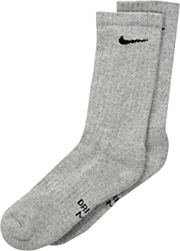 Nike Kids - Performance Cushioned Dri-Fit Crew Training Socks 6-Pair Pack (Little Kid/Big Kid)