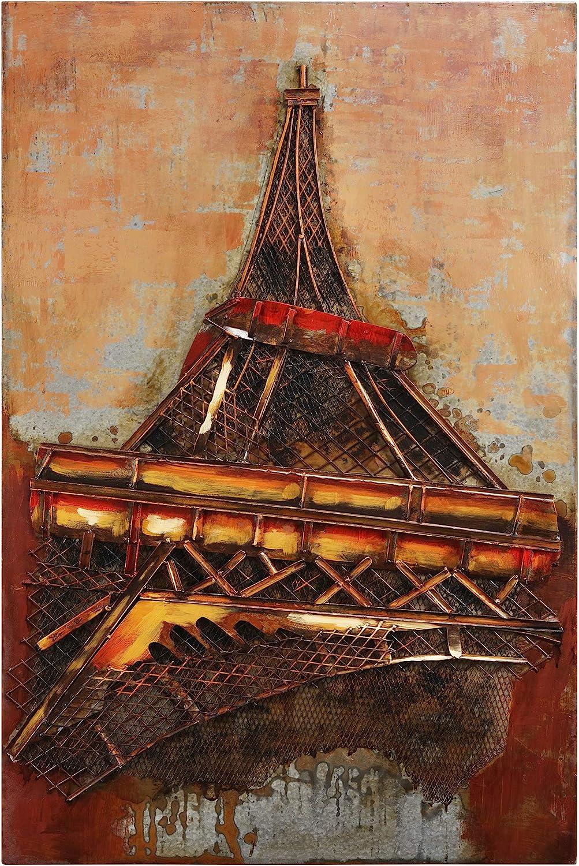 Empire Art Louisville-Jefferson County Mall Direct Eiffel Tower Mixed Hand Sacramento Mall Dim Iron Painted Media