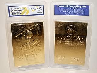 CHARLES BARKLEY 1986 Fleer ROOKIE 23KT Gold Card Sculptured - Graded GEM MINT 10
