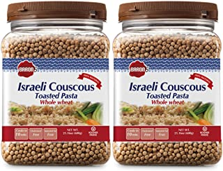 Sponsored Ad - Baron's Israeli Whole Wheat Couscous Toasted Pasta | 100% Natural Pearled Noodles for Soups, Side Dishes & ...