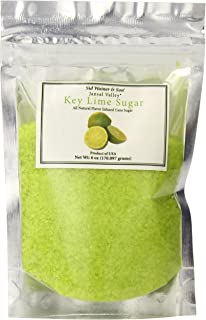 Jansal Valley All Natural Flavor Infused Cane Sugar, Key Lime, 6 Ounce