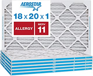 Best Aerostar Allergen & Pet Dander 18x20x1 MERV 11 Pleated Air Filter, Made in the USA, 6-Pack Review