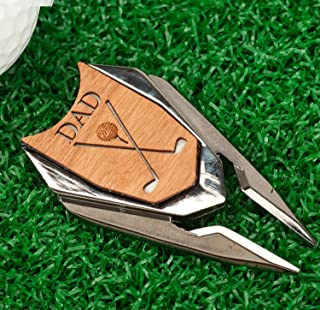 The Quintessential Hostess DAD Engraved Golf Divot Tool and Ball Marker (Cherry)