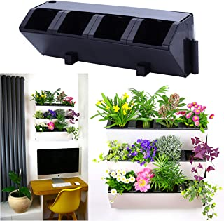 Self Watering Wall Planter by MyEasygro for Indoor and Outdoor | Mounted Hanging Vertical Urban Garden Decor | Green Wall Pots for Flowers, Plants, Herbs, Vegetables, Seeds | 22.5