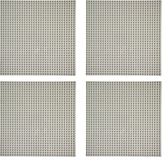 EKIND ブロック クラシック 基礎板 互換性のある 大きいサイズ 32x32 4枚セット(グレー)