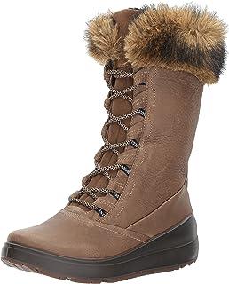 ECCO Women's Noyce Tall Snow Boot, Birch/Coffee, 35 EU / 4-4.5 US
