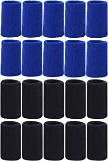 Mudder 20 Pieces Finger Sleeves Thumb Braces Support Elastic Compression Protector Braces for Relieving Pain Calluses Arthritis Knuckl (Black, Blue)