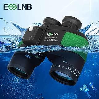 ESSLNB Marine Binoculars with Illuminated Compass Rangefinder 7X50 IPX7 100% Waterproof Military Binoculars for Adults Kids BAK4 FMC Floating Binoculars for Boating Hunting w/Bag and Floating Strap