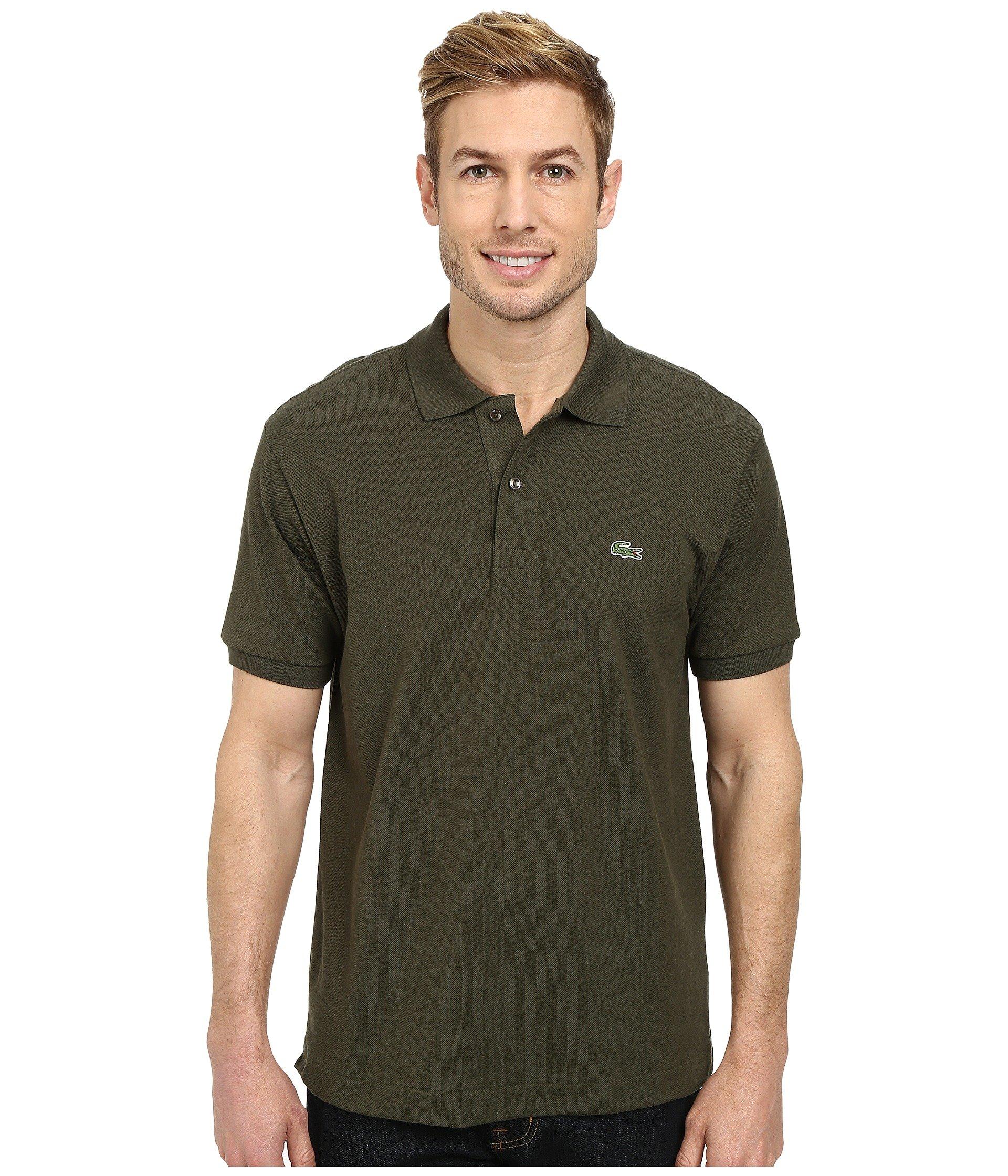 LACOSTE L1212 Classic Pique Polo Shirt, Baobab Green