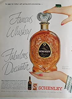 Schenley 1953 Reserve Blended Whiskey Fabulous Decanter Ad