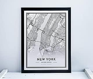 Alvar Carto New York Poster - City Map Print - Minimalistic Scandinavian Wall Art - 24