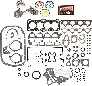 Evergreen Engine Rering Kit FSBRR5005EVE000 Fits 89-92 Mitsubishi Eagle Plymouth 2.0 4G63 4G63T Full Gasket Set, Standard Size Main Rod Bearings, Standard Size Piston Rings