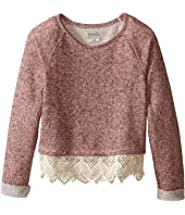 Lucky Brand Kids - Popover Top with Lace Trim and Lurex Detail (Little Kids)