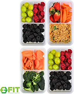 [4 Pack] Bento Box Meal Prep Containers (39 oz) - PREMIUM Quality Bento Lunch Boxes | Food Storage | Portion Control | LEAK PROOF | BPA FREE | Microwavable | Lunch Containers | Food Containers