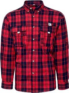 J.VER Men's Flannel Plaid Shirts Long Sleeve Regular Fit Button Down Casual Cotton Fishing Shirt