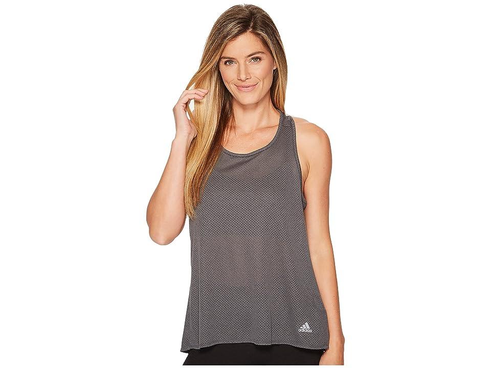 adidas Response Light Speed Tank Top (Dark Grey Heather) Women