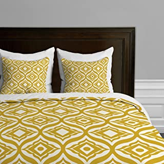 Deny Designs Heather Dutton Trevino Yellow Duvet Cover, King