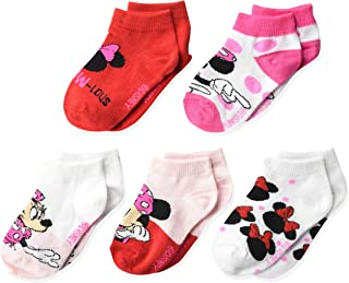 Disneys Minnie Mouse Red Polka Dot Bow Pink Socks 1 Pair, 22-24cm