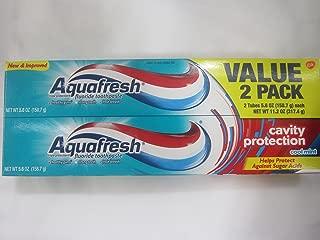 Aquafresh Cavity Protection Flouride Toothpaste, 2 Pack, Cool Mint, 5.6 oz