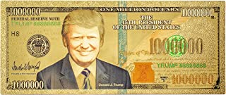 Promise of Quality Donald Trump Commemorative Million Dollar Bill / Novelty Banknote, 24k Gold Coated, Great Gift for Coin / Currency Collectors or Any Republican, Limited Edition