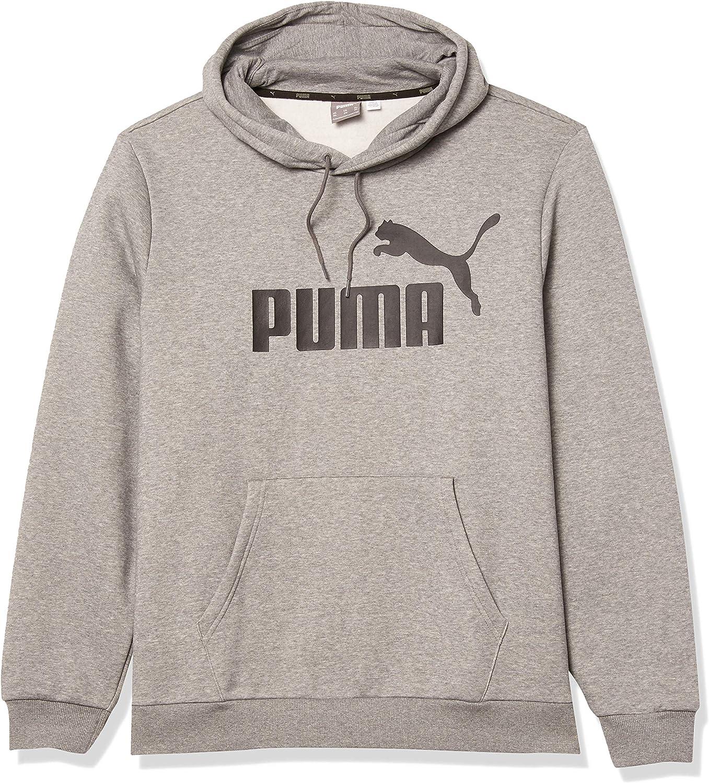 PUMA Men's Tall Essentials Big Logo Fleece Hoodie Bt