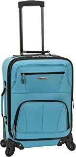 Rockland Pasadena Softside Spinner Wheel Luggage, Turquoise, Carry-On 20-Inch