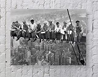 MeiMeiZ Lunch On a Skyscraper New York City Poster Standard Size | 18-Inches by 24-Inches | Lunch On a Skyscraper New York City Posters Wall Poster Print