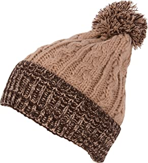 Sakkas Effie Unisex Heather Multi Colored Pom Pom Knit Beanie Hat