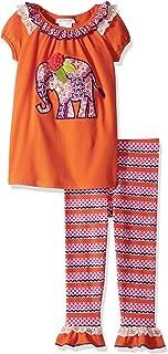 41071afcd7bda Bonnie Jean Little Girls' Appliqed Dress and Legging Set, Elephant, ...