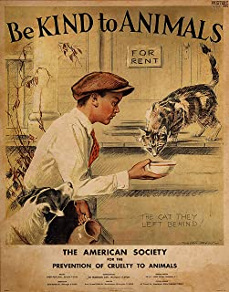 Be Kind To Animals - Vintage ASPCA Poster Print - Art Prints 11 x 14 Unframed Print -Great Wall Decor for Fans & Collectors of the Unusual - Office - Den, Kid's Room, Studio