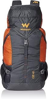 Wildcraft 45 Ltrs Grey and Orange Rucksack (8903338073864)