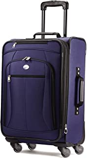 """American Tourister Luggage Pop Extra 21"""" Carry On Spinner Suitcase (21"""", Navy)"""