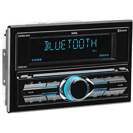 Sound Storm Laboratories DDML28B Multimedia Car Stereo - Double Din, Bluetooth Audio and Hands-Free Calling, MP3 Player, USB Port, AUX Input, AM/FM Radio Receiver, No CD/DVD Player