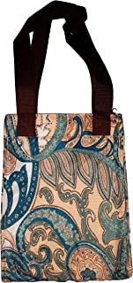 Lunar Lily Reusable Insulated Lunch Tote Bag Floral Geometic Paisley (Paisley Turquoise)