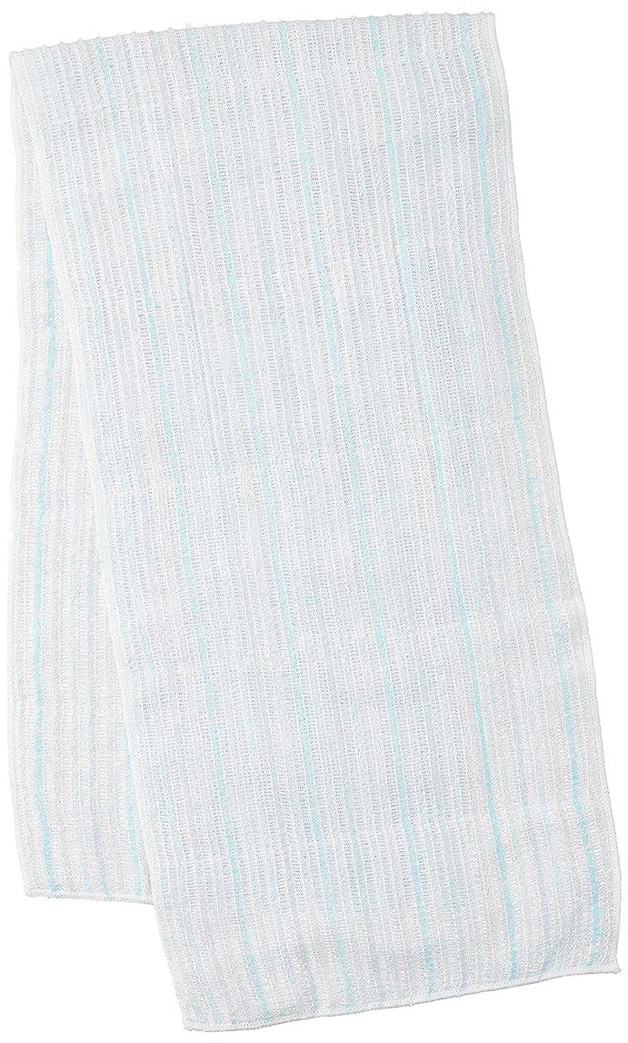 たるみ奇跡悲鳴サンベルム (SANBELM) お風呂 タオル 体洗い  ブルー(BL) 20x100cm 綿あわだちボディタオル Fuwari B33602