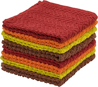 DecorRack 8 Pack Kitchen Dish Towels, 100% Cotton, 30cm x 30cm Dish Cloths, Perfect Cleaning Cloth for Washing Dishes, Kit...