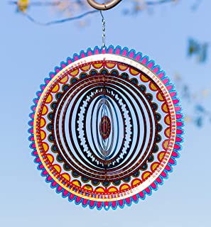 VP Home Kinetic 3D Metal Garden Wind Spinner (Sunrise Mandala)