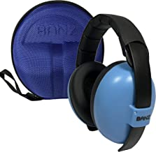 BANZ Baby Size Headphones and Travel Storage Case BUNDLE - Earmuffs for Babies and Toddlers Ages 0-2+ - The BEST Hearing P...